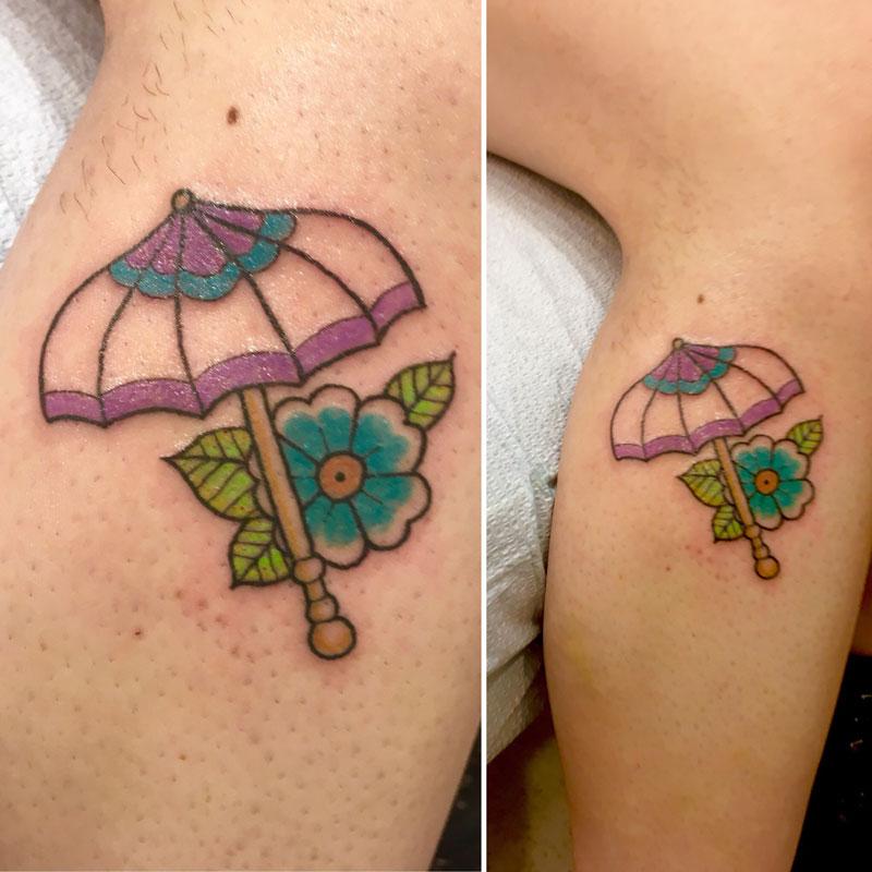 Parasol tattoo