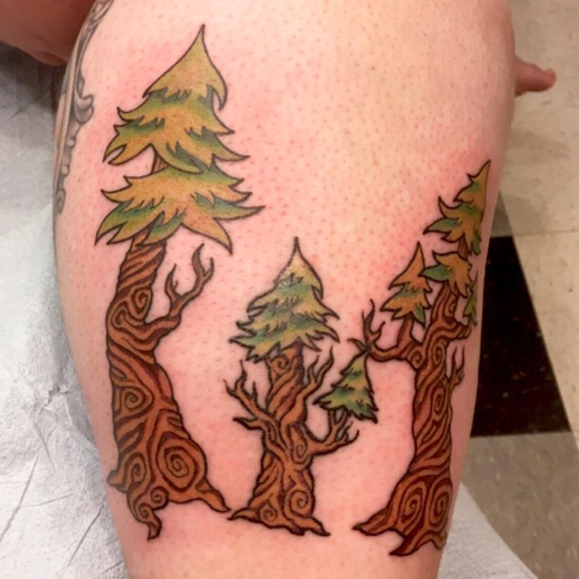 Trees tattoo