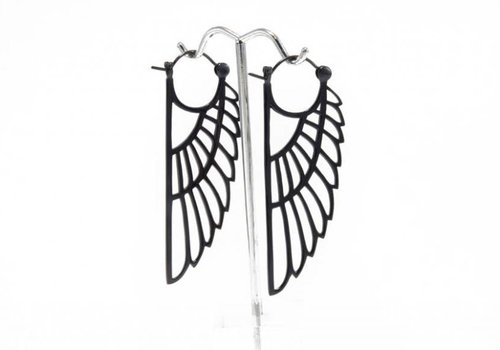 Tawapa Isis Earring in Gunmetal