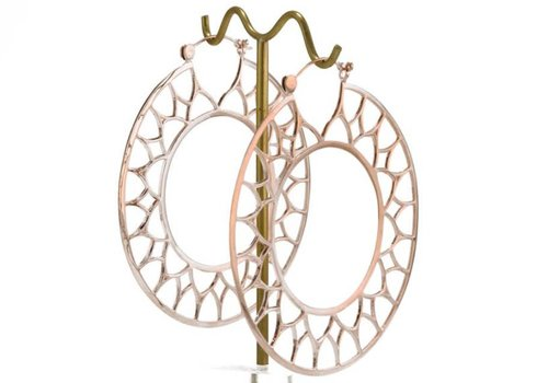 Tawapa Gothic Hoop in Rose Gold