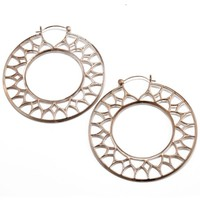 Gothic Hoop in Rose Gold