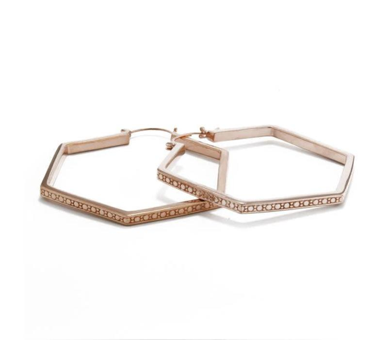 Sequence Hoop in Rose Gold