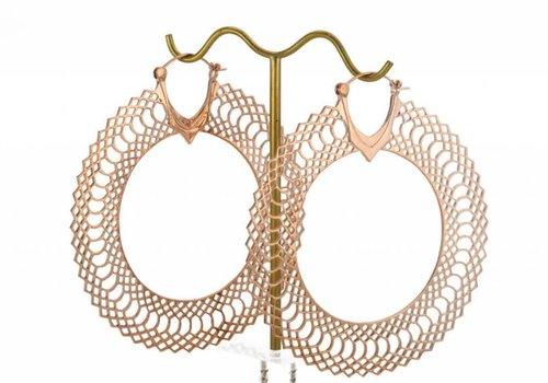 Tawapa Snakeskin Hoop in Rose Gold