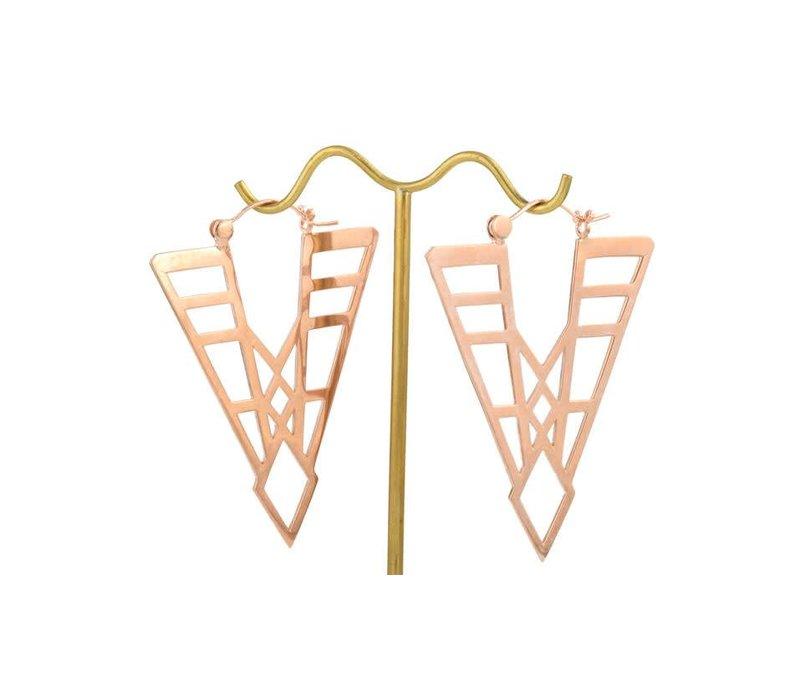 Deco Spear in Rose Gold