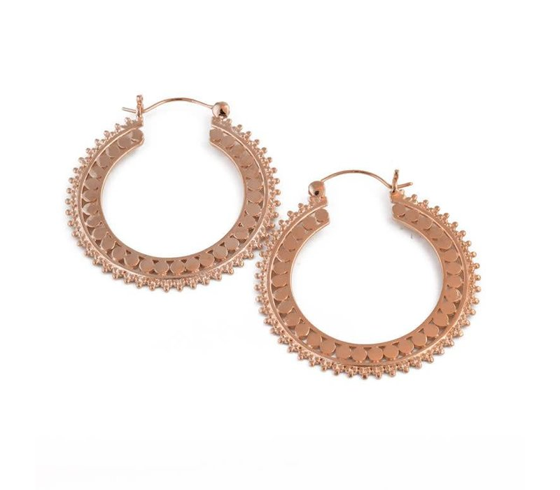Afghan Hoop in Rose Gold