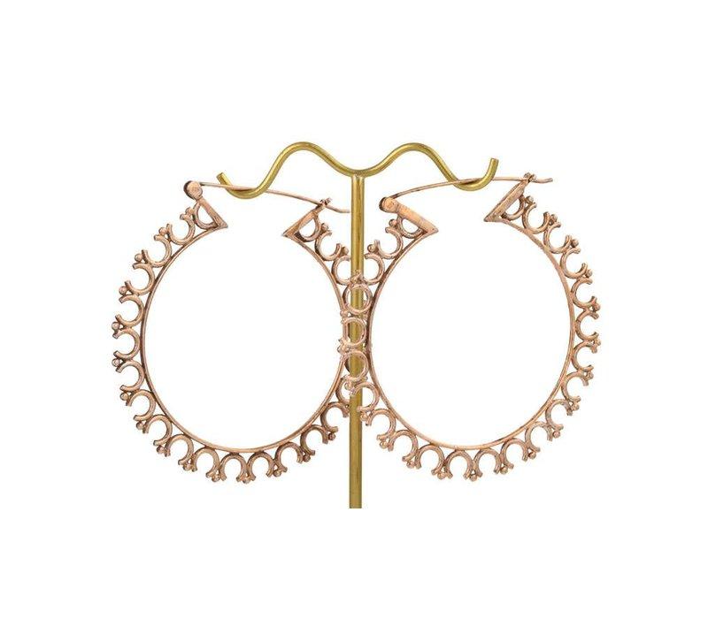 Third Eye Hoop in Rose Gold