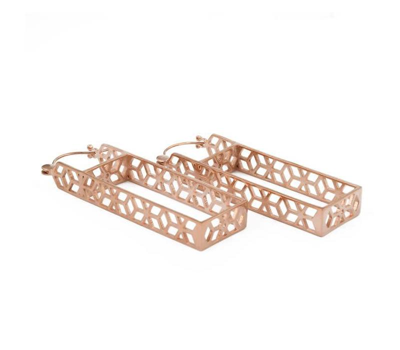 Mosaic Rectangle in Rose Gold
