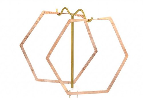 Tawapa Large Hexagon Hoop in Rose gold