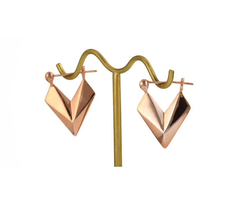 Sunken Arrow in Rose Gold