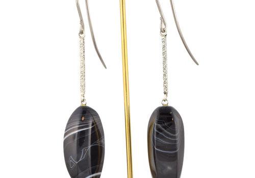 Quetzalli Stripped Agate Hooks