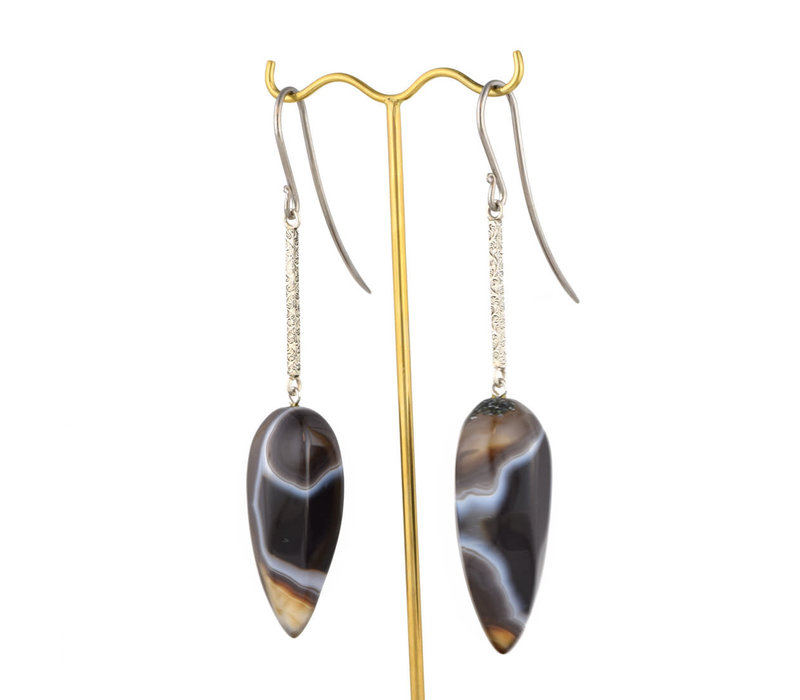 Stripped Agate Hooks