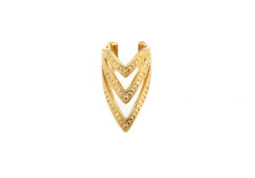 Tawapa Pointed Chevron Cuff in Yellow Gold
