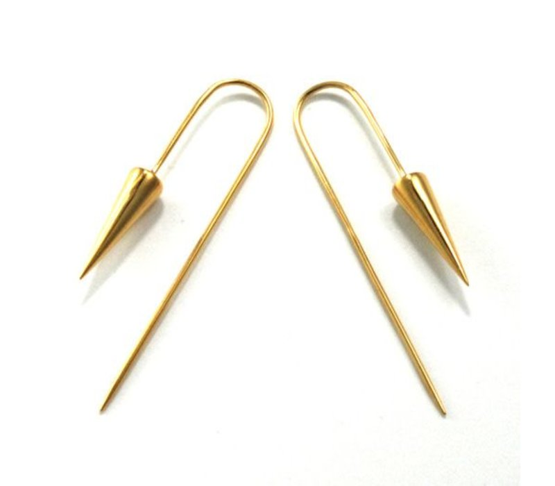 Pyramid Hook in Yellow Gold, 16G