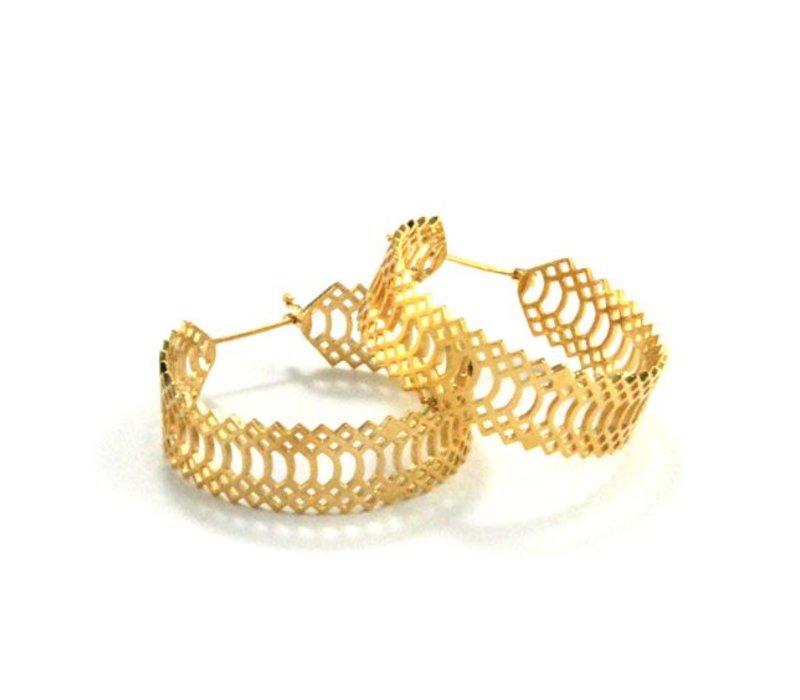 Snakeskin Knocker in Yellow Gold