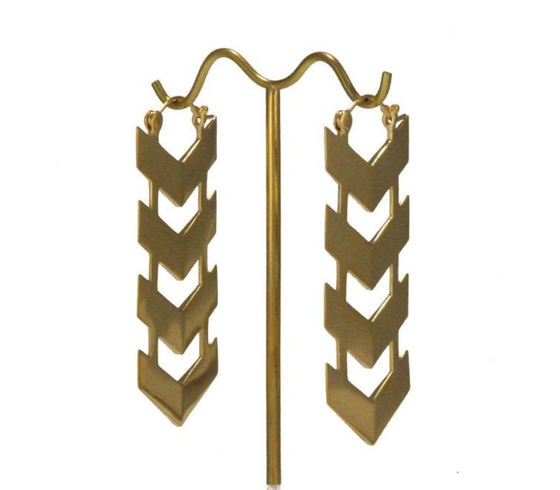 Quad Arrow in Yellow Gold