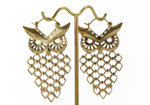 Tawapa Owl in Yellow Gold