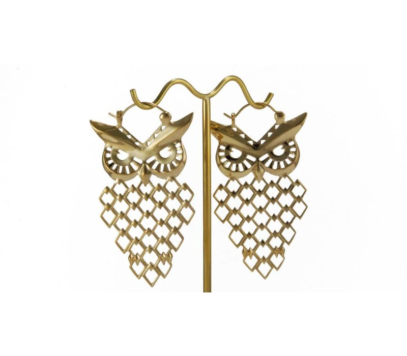 Owl in Yellow Gold