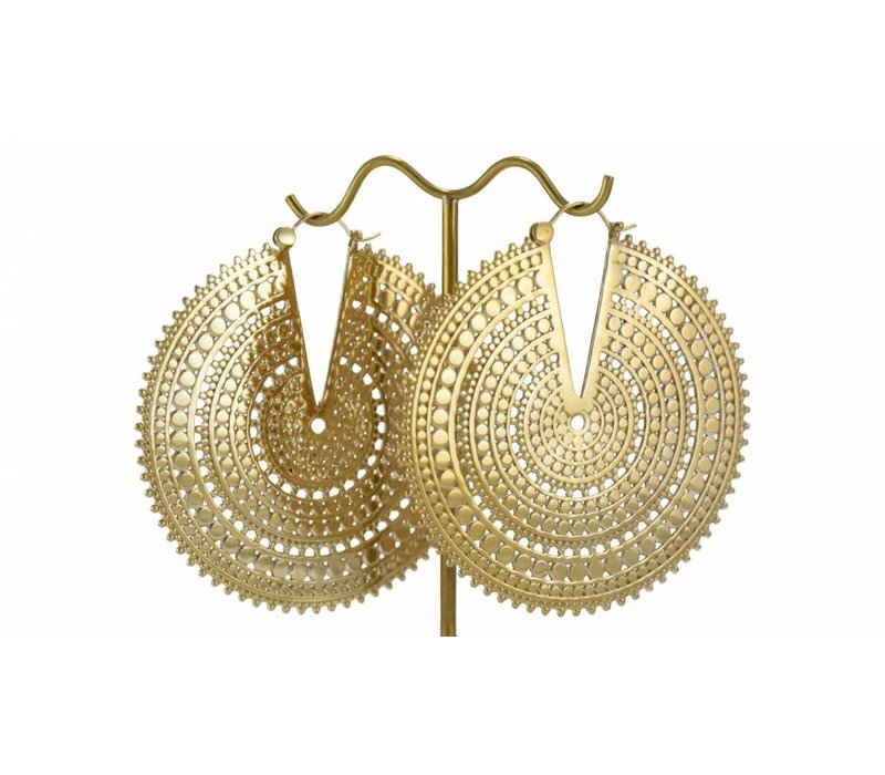 Ultra Afghan Disc in Yellow Gold