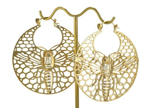 Tawapa Bee Hoop in Satin Yellow Gold