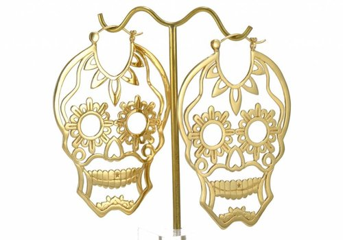 Tawapa Sugar Skull in Yellow Gold