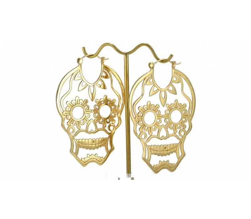 Sugar Skull in Yellow Gold