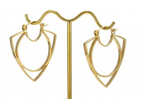 Tawapa Mini Menage a Trois Hoop in Yellow Gold