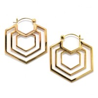 Mini Triple Hex in Yellow Gold