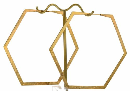 Tawapa Large Hexagon Hoop in Yellow gold