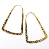 Small Bell Hoop in Yellow Gold