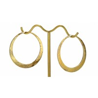 Small Classic Round Hoop in Yellow Gold