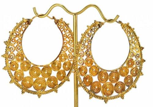Tawapa Filigree Hoop in Yellow Gold