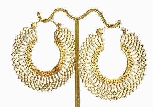 Tawapa Mini Snakeskin hoop in Yellow Gold