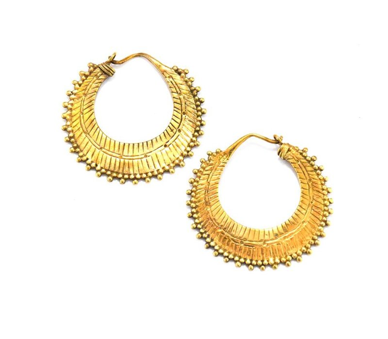 Small Afghan Hoop in Yellow Gold