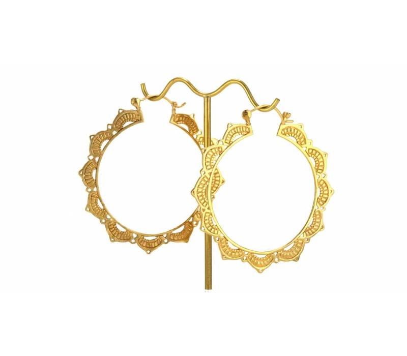 Lotus Hoop in Yellow Gold
