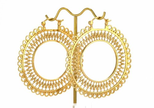 Tawapa Lace Hoop in Yellow Gold