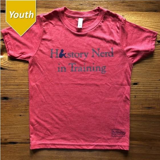 "The History List ""History Nerd in Training"" Kids Shirt"