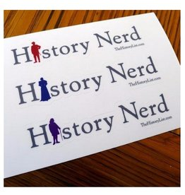 The History List History Nerd Sticker Sheet