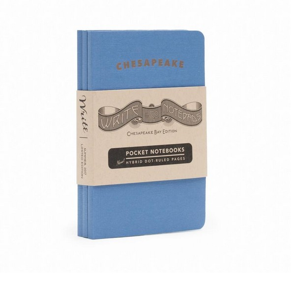 "Write Notepads & Co. ""Chesapeake Bay"" Pocket Notebooks, 3-pack"