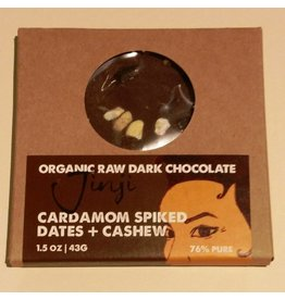 Large Chocolate Bark - Date/Cardamom/Cashew (76%)