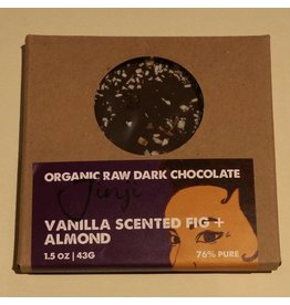 Jinji Chocolate Large Chocolate Bark - Fig/Almond/Vanilla (76%)
