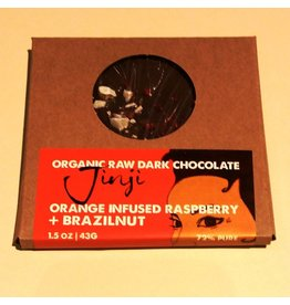 Large Chocolate Bark - Raspberry/Orange/Brazil Nut (72%)