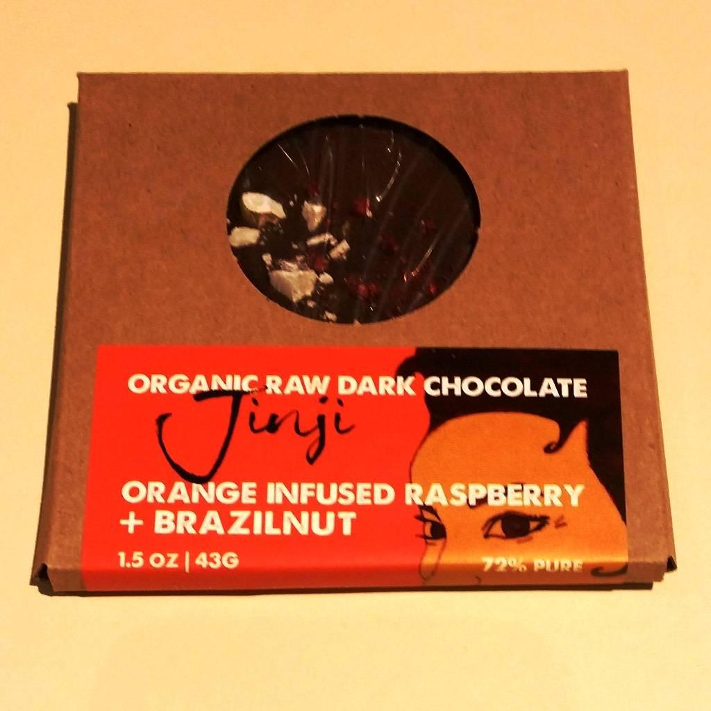 Large Chocolate Bark - Raspberry/Orange/Brazil Nut (72%)