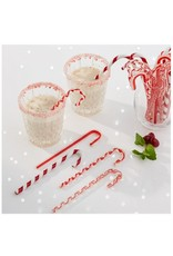 Candy Cane Glass Ornaments, Assorted