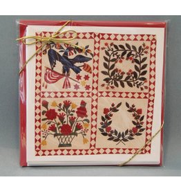 Pack of 5 Baltimore Album Quilt Note Cards