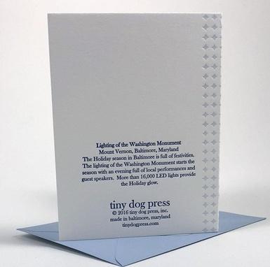 Tiny Dog Press B'More Bright Card - Navy/Copper