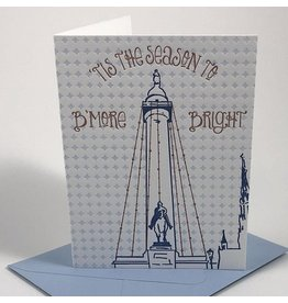 Tiny Dog Press B'More Bright Card - Navy/Copper