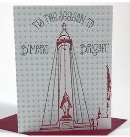 Tiny Dog Press B'More Bright Card - Red/Mint