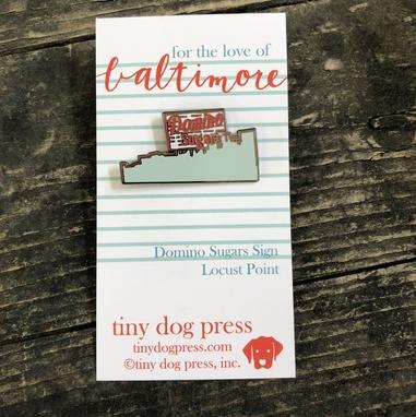 Tiny Dog Press Domino Sugars Enamel Pin