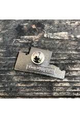 Tiny Dog Press Baltimore Maryland | Domino Sugars Sign enamel pin