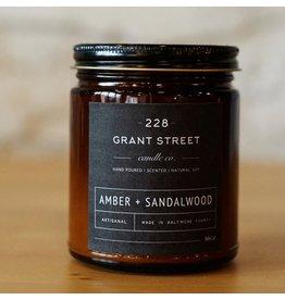 228 Grant Street Candle Co. Amber + Sandalwood
